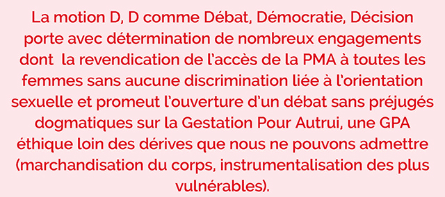 Congrès de Poitiers | tribune de la motion D