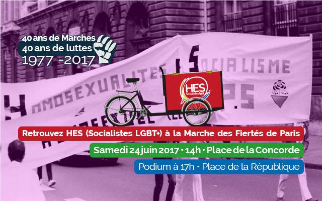 Marche des fiertés : 40 ans de lutte ! Les socialistes toujours mobilisés !