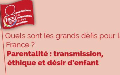 Les grands défis pour la France : parentalité, transmission, éthique et désir d'enfant