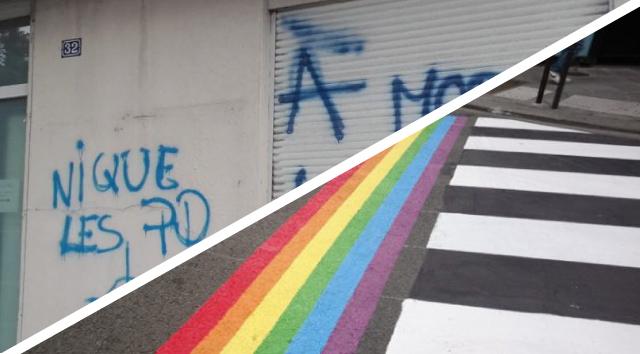 Dégradations et vandalismes n'arrêteront pas la visibilisation des LGBT+