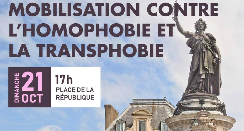 Mobilisation contre l'homophobie et la transphobie