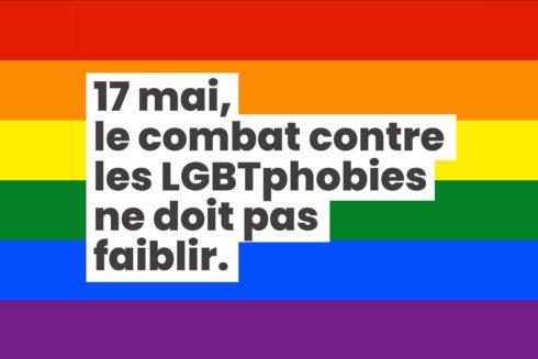 17 mai, le combat contre les LGBTphobies ne doit pas faiblir