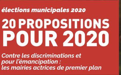 20 propositions pour les municipales de2020