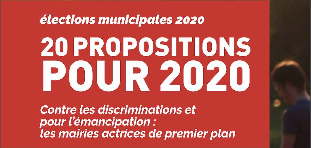 20 propositions pour les municipales de 2020