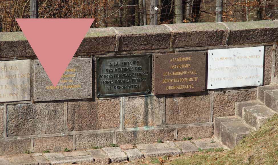 10e anniversaire de la plaque au camp de Struthof en mémoire des personnes déportées pour homosexualité