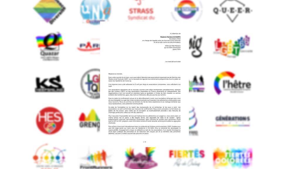 Des dizaines d'associations LGBTI de toute la France interpellent le gouvernement sur les impacts du confinement pour lesLGBTI+